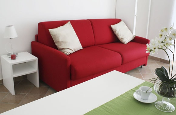 Appartamento con sofa bed